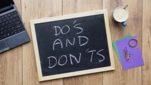 Do's and don'ts (Image via Shutterstock)